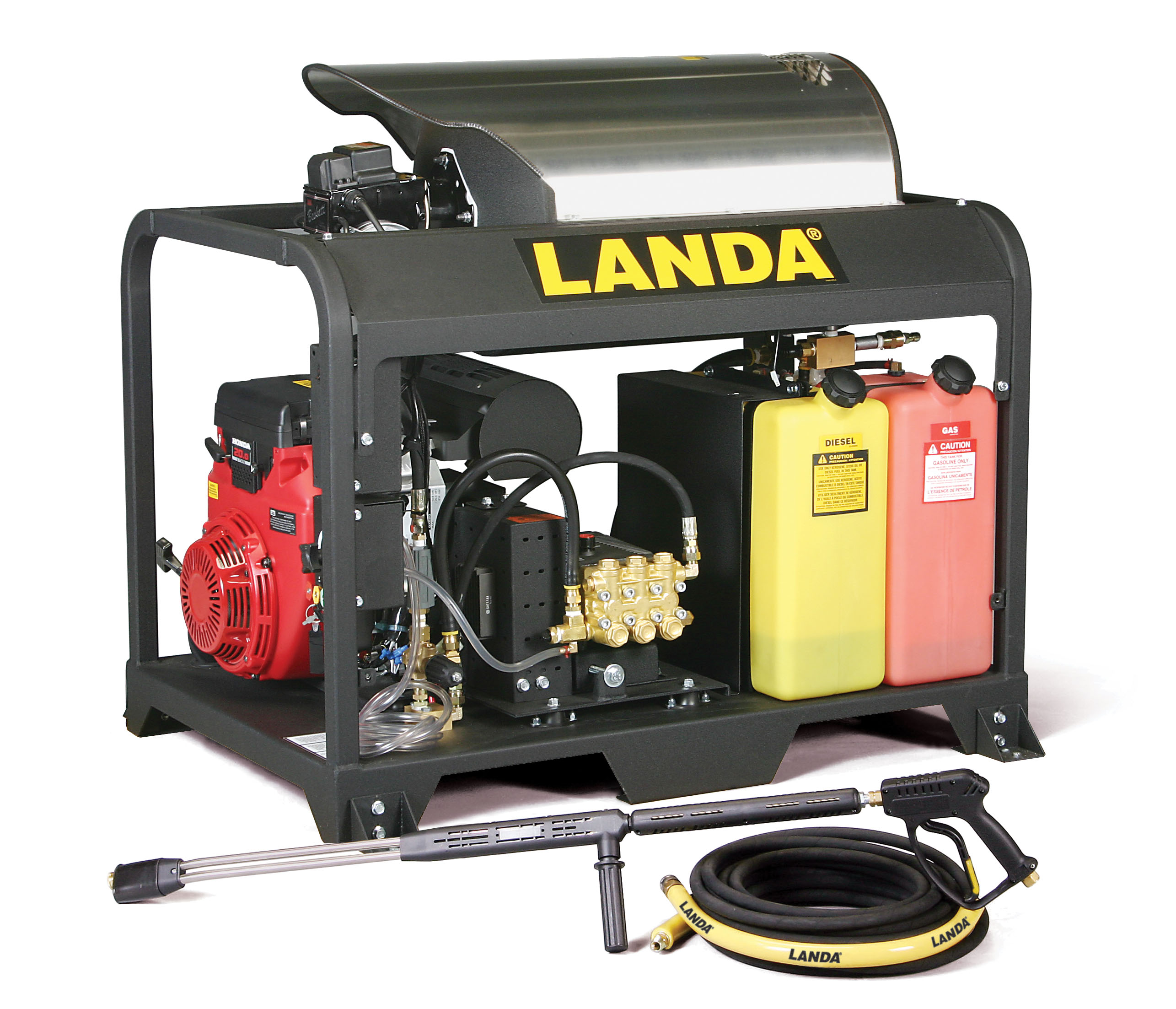 Landa Oil Fired Hot Water Pressure Washer PGDC5-35224E